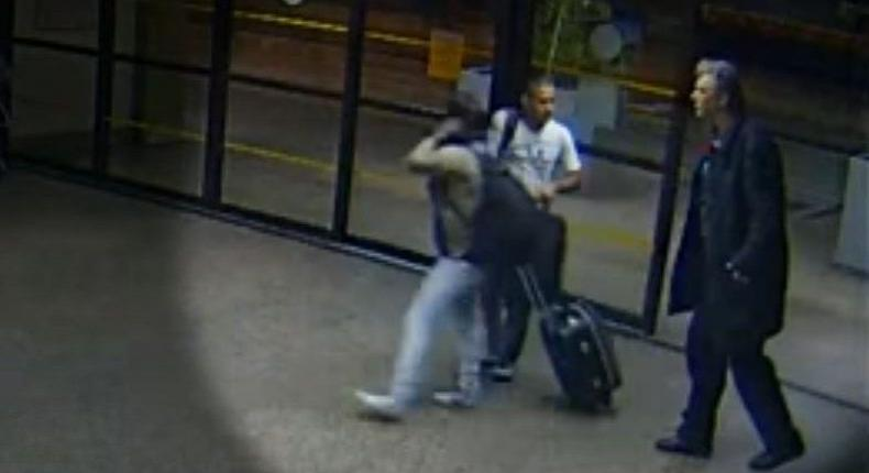 Screenshot from a security footage