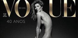 """Gisele Bundchen nago na okładce brazylijskiego """"Vogue'a"""""""