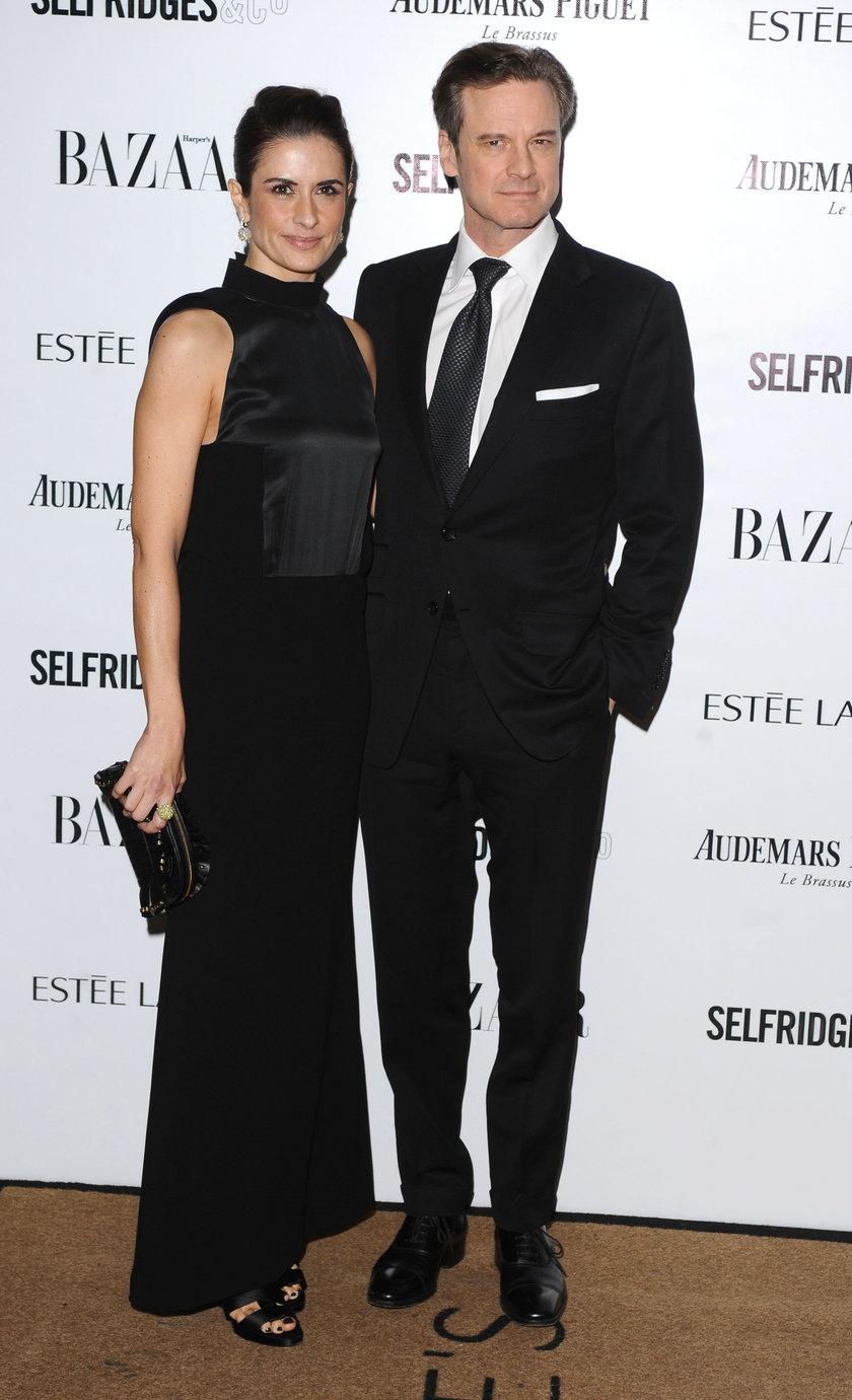 Colin Firth i Livia Giuggioli