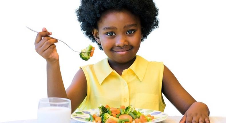 Little girl eating healthy (Courtesy)