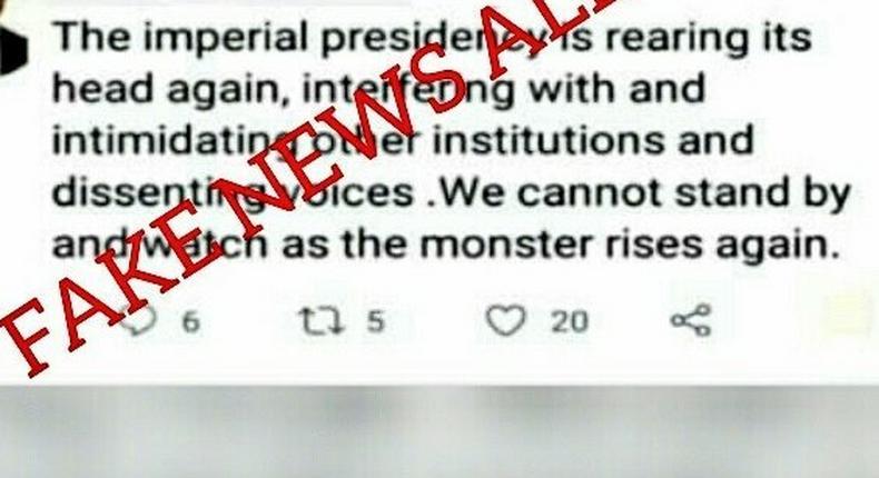 Meru Governor Kiraitu Murungi claims his Twitter account was hacked after anti-President Uhuru Kenyatta post