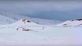 Pustynne wydmy zamieniły się w stoki narciarskie