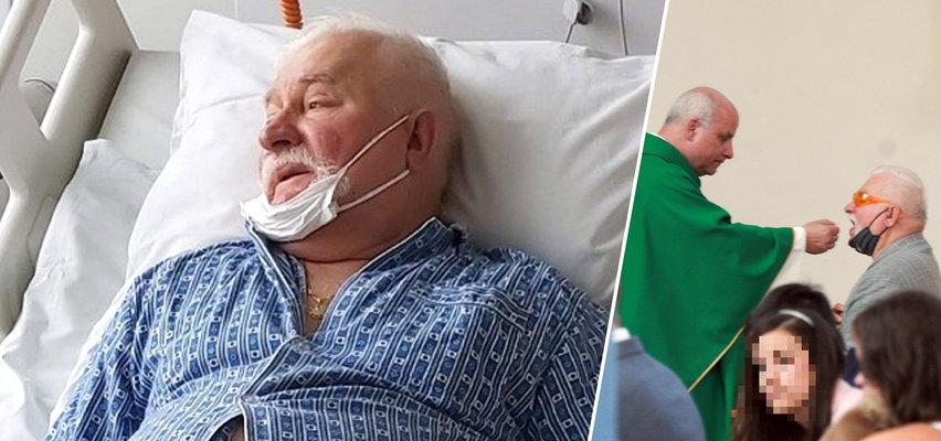 Wałęsa przyjął komunię. Wszystko po dramatycznych doniesieniach ze szpitala i apelach o modlitwę
