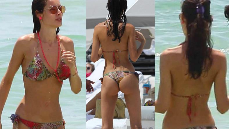 Piękna partnerka Erosa Ramazzotti podczas wakacji w Miami