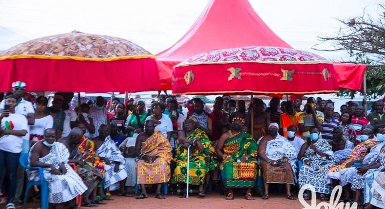 Chief of Asebu Putubiw, Nana Bokyerwa Ekwembir IV wants a distillery for his people.