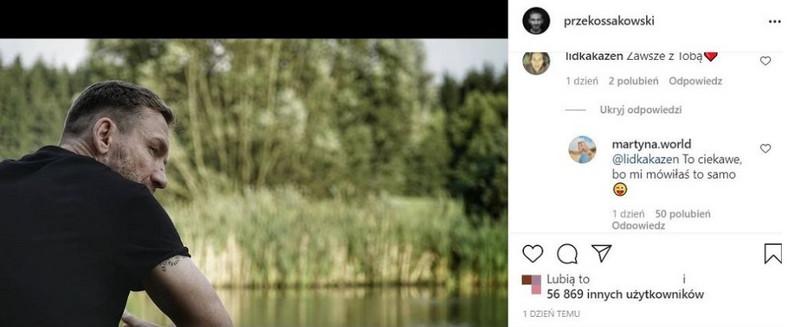Martyna Wojciechowska commented on the entry about the breakup of Przemek Kossakowski