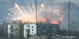 Pożar i wybuchy w składzie amunicji. Zobacz wstrząsające nagrania