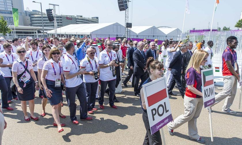 Ceremonia przywitania polskie reprezentacji w Londynie
