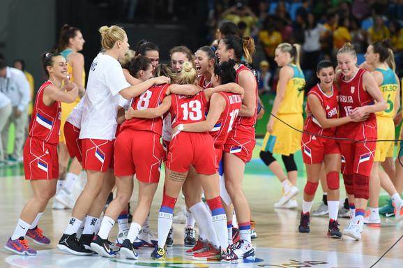 Ženska košarkaška reprezentacija Srbije slavi uspeh u Riju