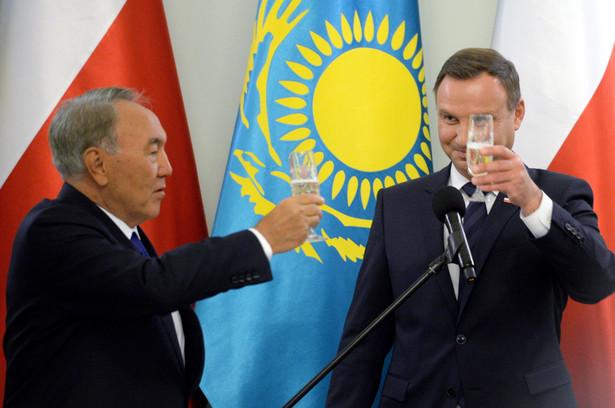Prezydent RP Andrzej Duda i prezydent Kazachstanu Nursułtan Nazarbajew