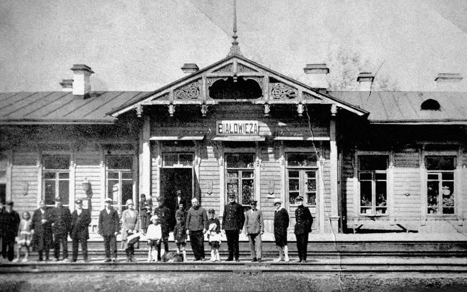 Stacja Białowieża Towarowa, zdjęcie sprzed 1939 roku