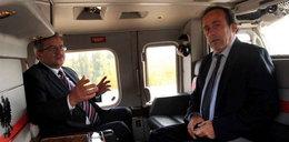 Prezydent RP przewiózł Platiniego helikopterem