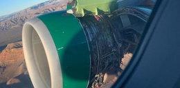 Lecieli uszkodzonym samolotem. Przerażające nagranie