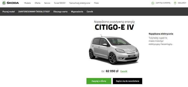Skoda Citigoe iV