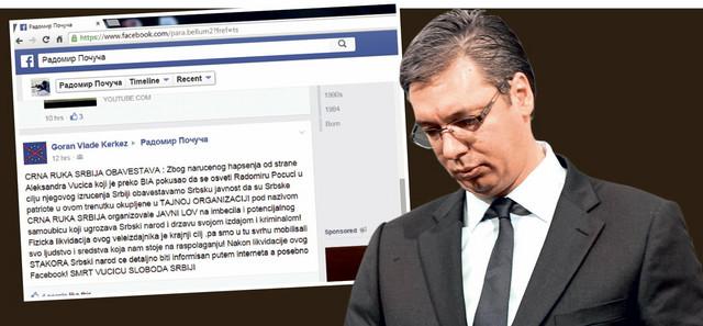 Pretnje Vučiću na Fejsbuku