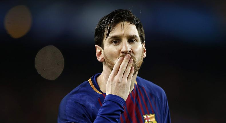File image of football legend Lionel Messi. He has donated millions to fund a project in Kenya