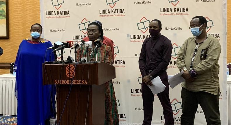 The Linda Katiba movement comprising of Martha Karua, David Ndii, Boniface Mwangi, Jerotich Seii and others