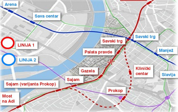 Novi predlog linija za metro