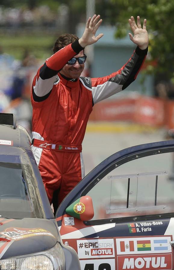 Andre Viljaš-Boaš na startu Dakar relija, koji se ove godine održava u Peruu