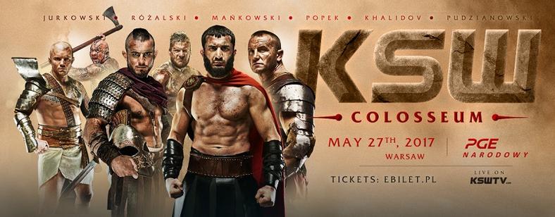KSW 39 Colosseum - plakat
