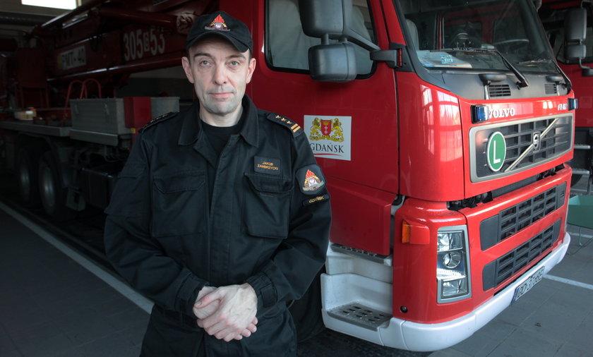St. bryg. Jakub Zambrzycki, zastępca komendanta miejskiego Państwowej Straży Pożarnej w Gdańsku