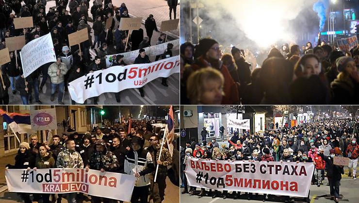 PROTESTI KOLAZ foto RAS Srbija