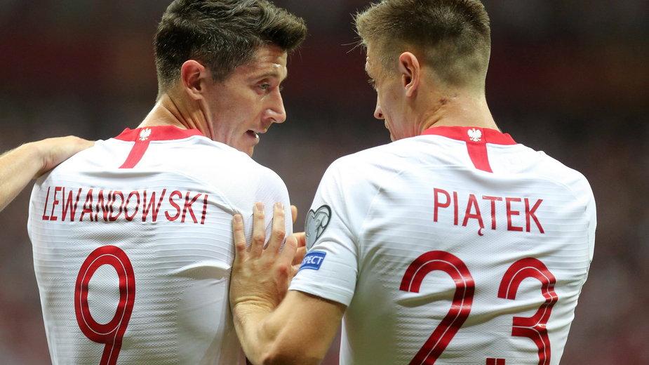 Krzysztof Piątek i Robert Lewandowski