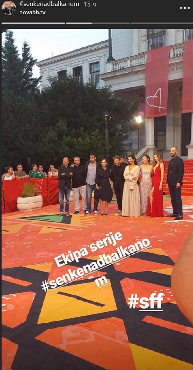 Jovana i Bogdan sinoć na premijeri  Senki u Sarajevu