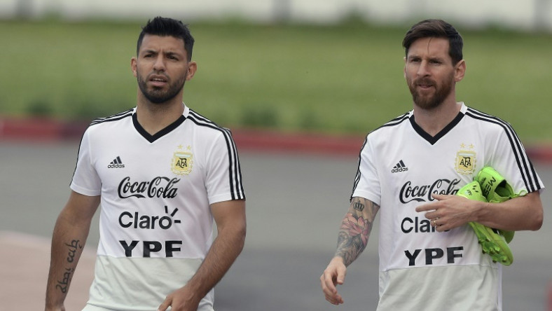 Argentina's Lionel Messi and Sergio Aguero have scored 104 interational goals between them