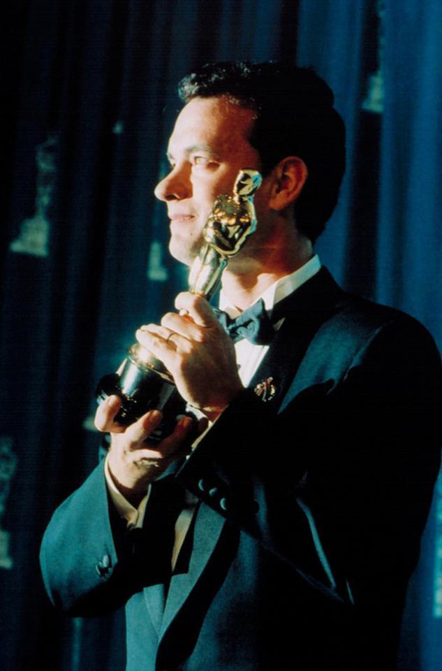 """Tom Hanks - ceremonia w 1994 roku, Oscar za pierwszoplanową rolę w """"Filadelfii"""""""