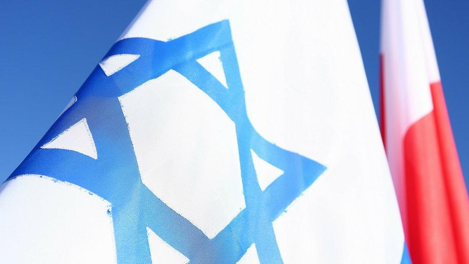Flagi Polski i Izraela, fot. ilustracyjna