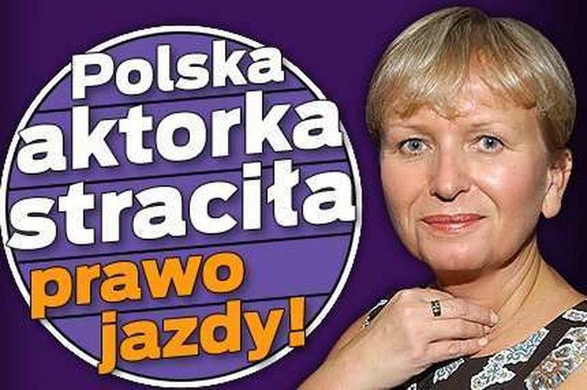 Polska aktorka straciła prawo jazdy!