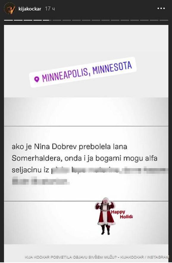 Kijina objava na Instagramu