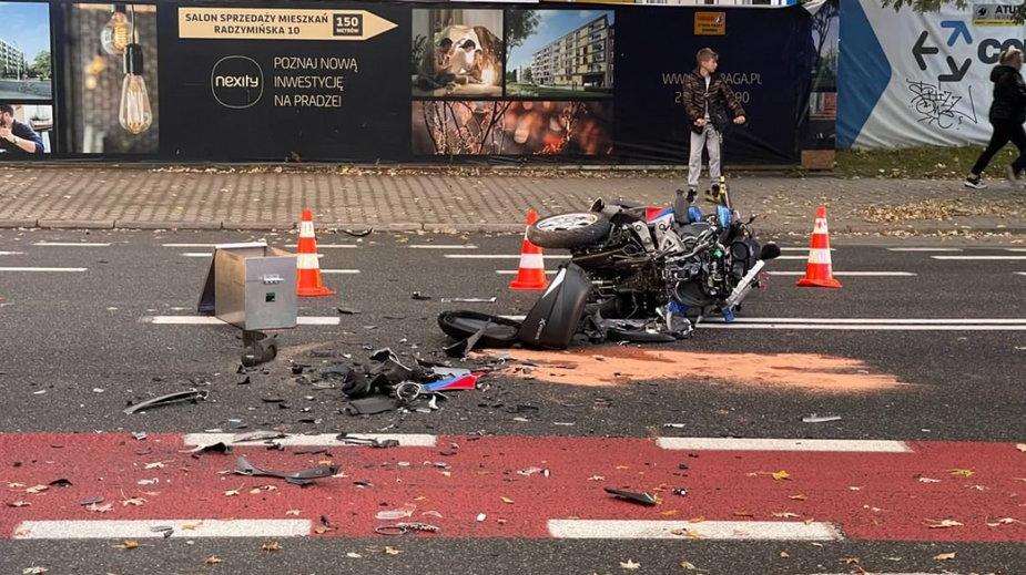 Zdjęcie z miejsca wypadku