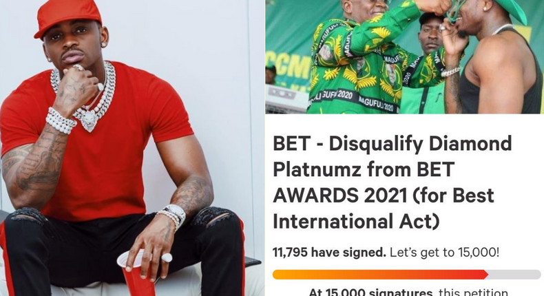 Tanzanians' petition to have BET disqualify Diamond from this year's Awards