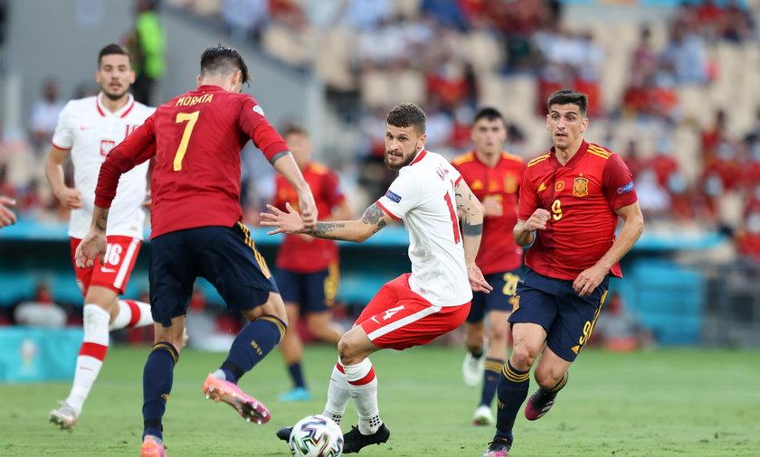 Pilka nozna. Euro 2020. Hiszpania - Polska. 19.06.2021