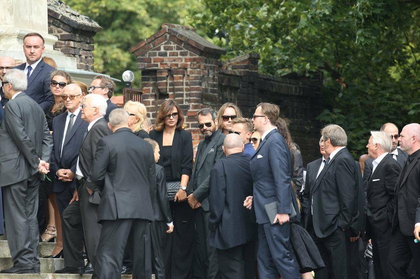 Paweł Deląg podczas pogrzebu Jana Kulczyka
