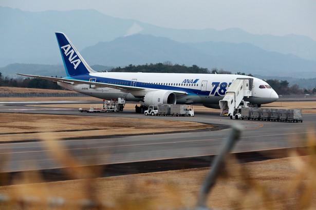 Dreamliner Japońskich Linii Lotniczych.