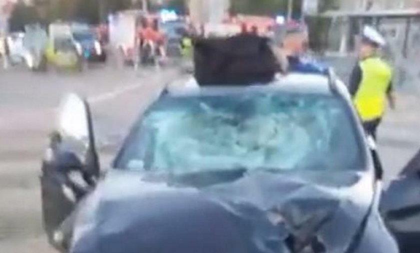 BMW, wrocław, przystanek, wypadek, samochod