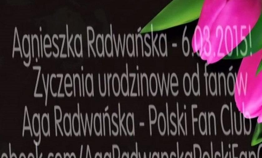 Agnieszka Radwańska życzenia