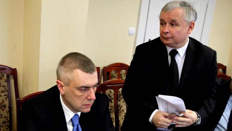 Jarosław Kaczyński i Roman Giertych, fot. PAP/Tomasz Gzell