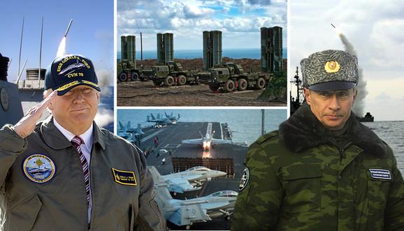 kombo Putin, Tramp, rat, rusija, amerika, sirija