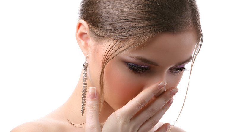 kobieta nos oddech