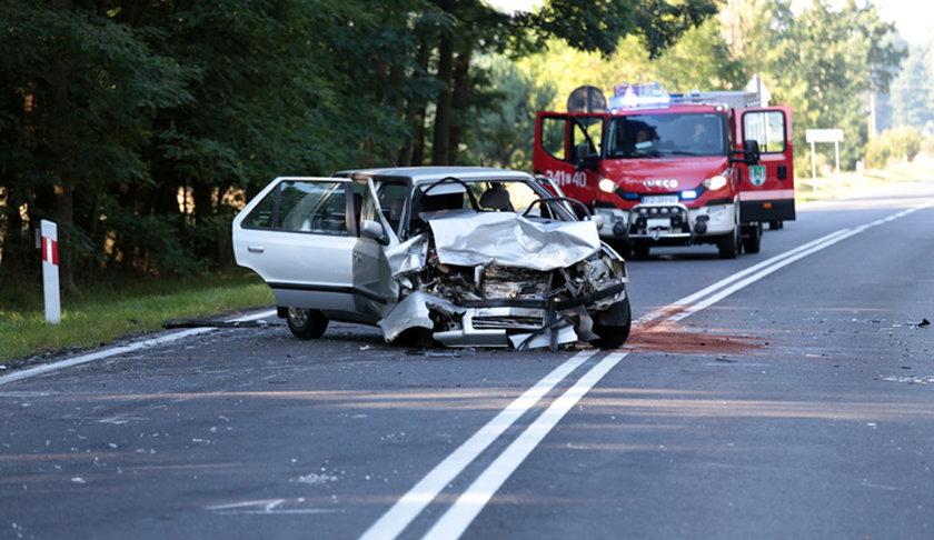 Groźny wypadek pod Świdnicą (woj. lubuskie)