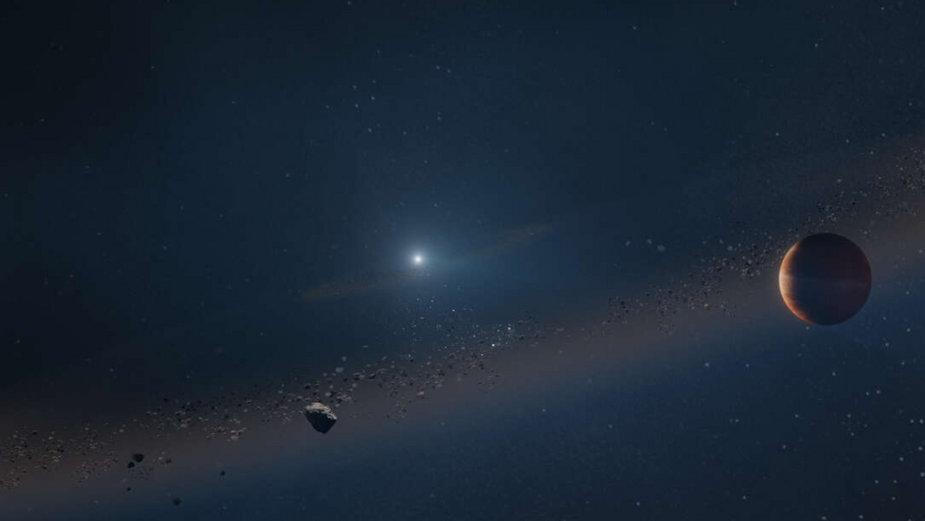 Artystyczna wizja planety okrążającej białego karła, fot. W. M. Keck Observatory/Adam Makarenko
