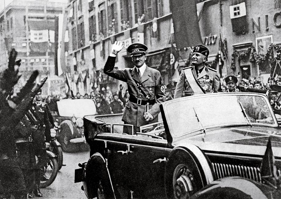 Adolf Hitler and Benito Mussolini, Rome, 4th May 1938