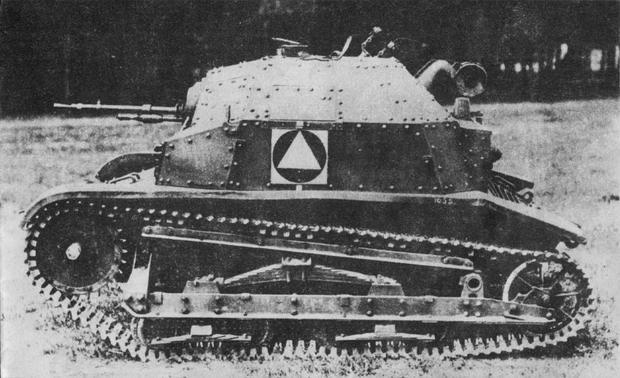 TKS w wersji z karabinem maszynowym Hotchkiss 7,92 mm