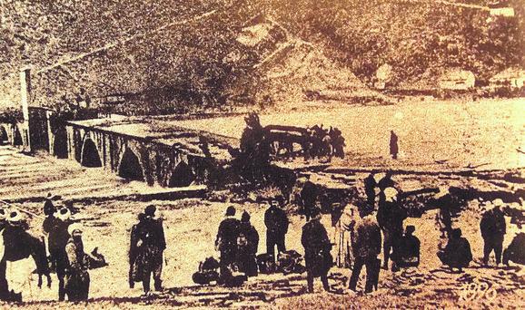Višegradski most: Obnova kada ga je poplava odnela 1896. godine
