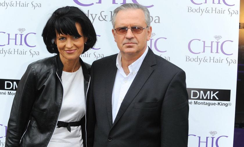 Aktor Tomasz Stockinger z partnerką.