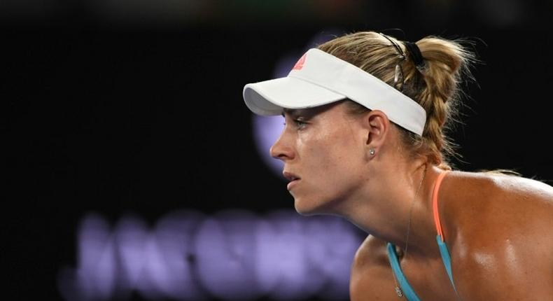 Germany's Angelique Kerber , in action on January 22, 2017, has used Dubai as a building block to repair her modest early season form